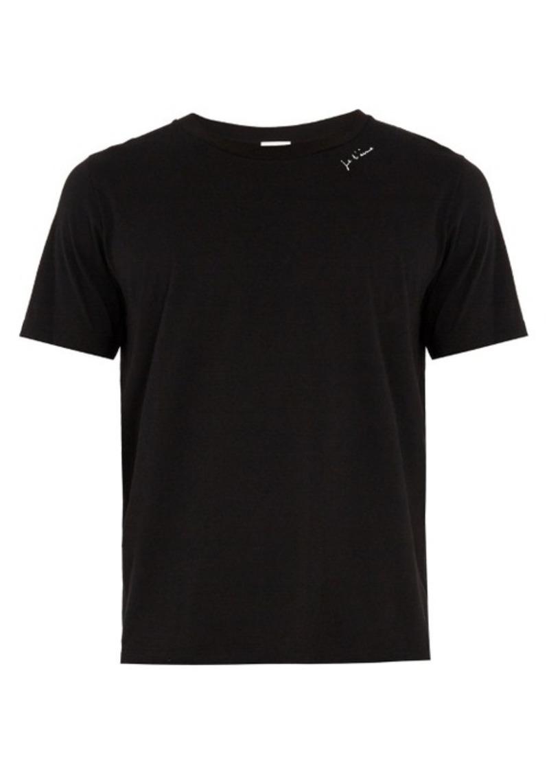 736d12ea6695a Yves Saint Laurent Saint Laurent Je t'aime-print jersey T-shirt | T ...
