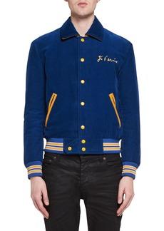 Yves Saint Laurent Saint Laurent Je T'Aime Teddy Corduroy Bomber Jacket