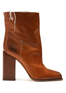 Yves Saint Laurent Saint Laurent Jodie square-toe leather ankle boots