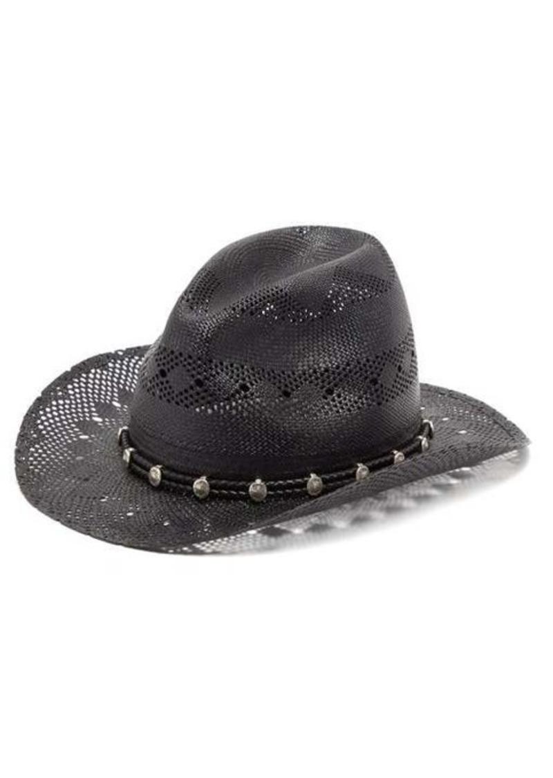 Yves Saint Laurent Saint Laurent Jones open-weave straw hat