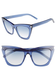 Yves Saint Laurent Saint Laurent Kate 55mm Cat Eye Sunglasses