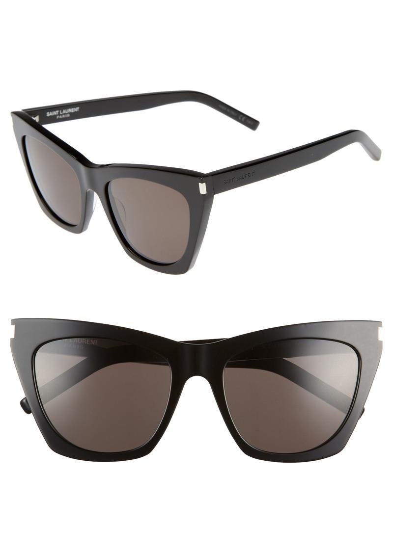 4e27e79984a Saint Laurent Saint Laurent Kate 55mm Cat Eye Sunglasses