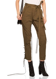 Saint Laurent Lace Up Military Gabardine Pants