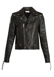 Saint Laurent Lace-up motorcycle leather jacket