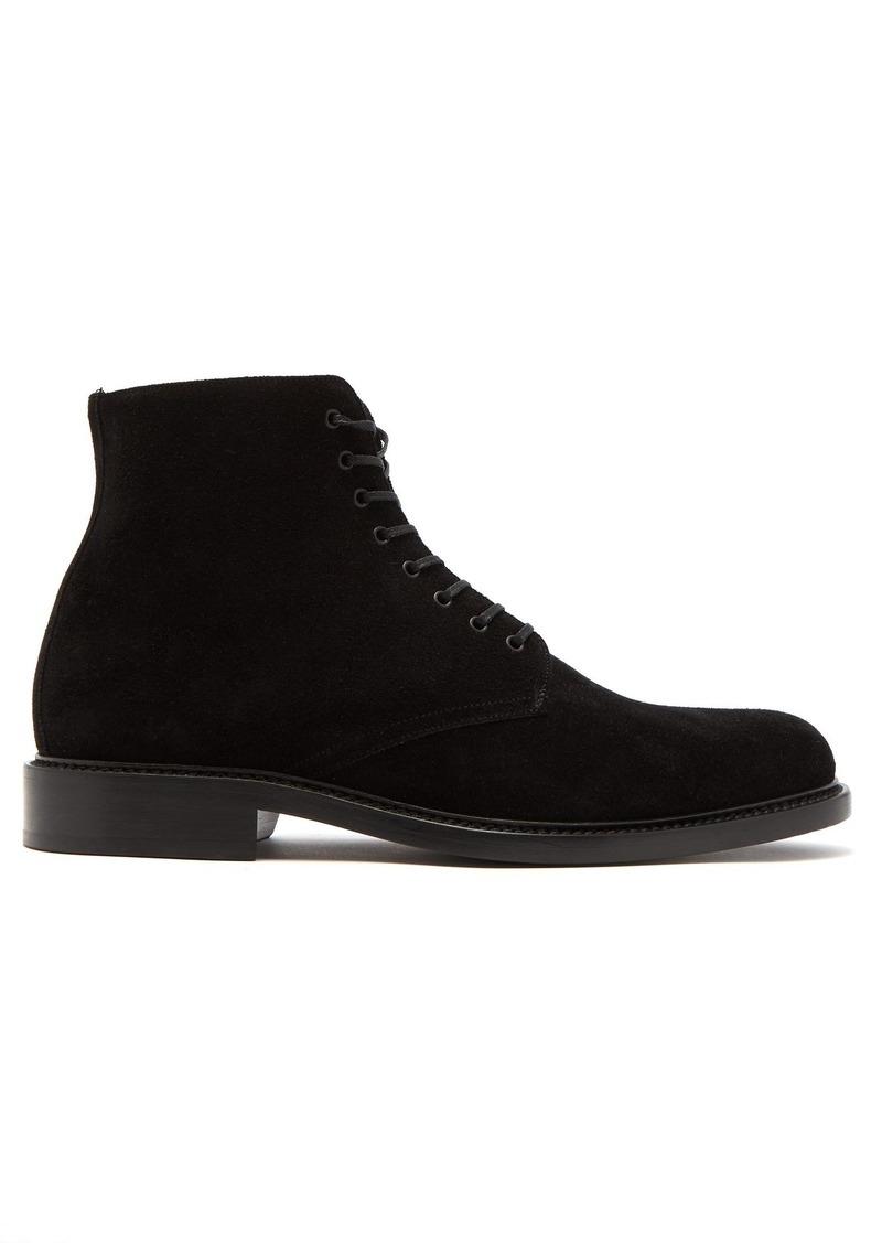 11e4b7d31e4 Yves Saint Laurent Saint Laurent Lace-up suede boots   Shoes