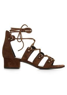 Yves Saint Laurent Saint Laurent Lace-up suede sandals