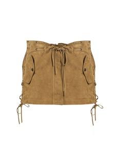 Yves Saint Laurent Saint Laurent Laced suede mini skirt