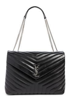 Saint Laurent Large Loulou Matelassé Leather Shoulder Bag