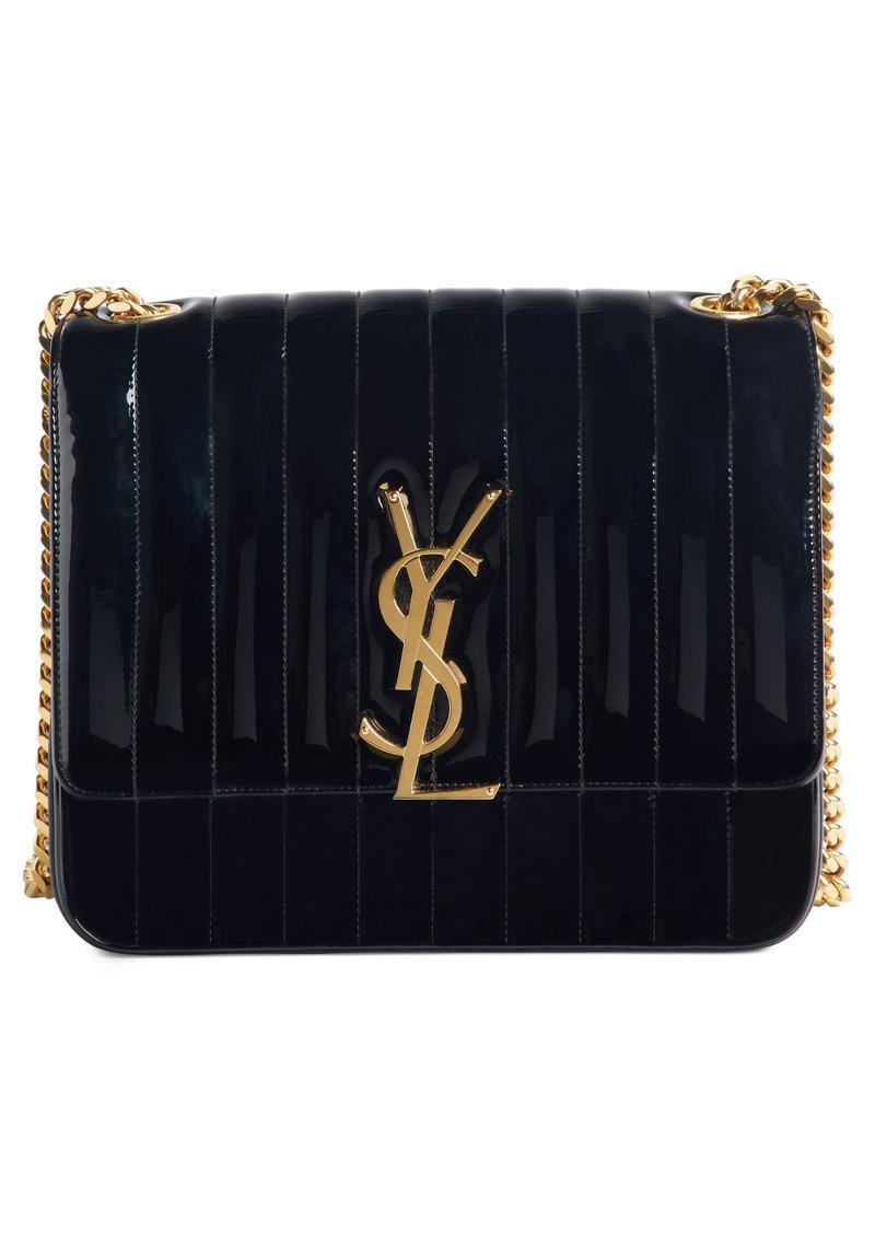 f7384d864605 Saint Laurent Saint Laurent Large Vicky Patent Leather Crossbody Bag ...