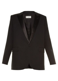 Yves Saint Laurent Saint Laurent Le Smoking single-breasted crepe blazer