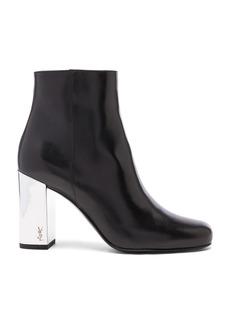Saint Laurent Leather Babies Pin Boots