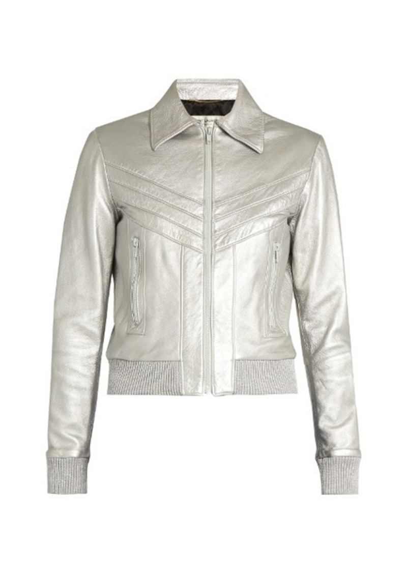 Yves Saint Laurent Saint Laurent Leather bomber jacket