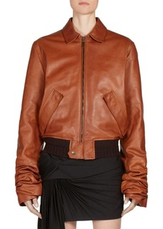 Saint Laurent Leather Bomber Jacket