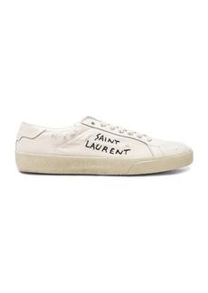 Saint Laurent Leather Court Classic Logo Sneakers