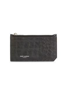 Yves Saint Laurent Leather Credit Card Holder