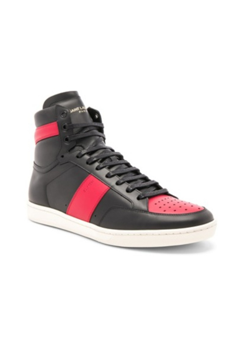 8ffc66405ef3 Yves Saint Laurent Saint Laurent Signature Court Classic SL 10H Leather High  Top Sneakers