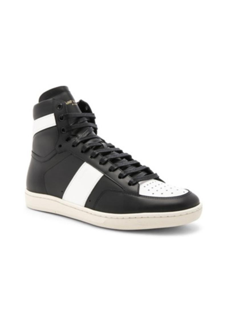 1d715ff2 Saint Laurent Signature Court Classic SL/10H Leather High Top Sneakers
