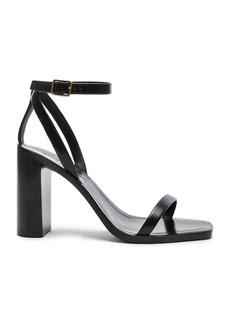 Saint Laurent Leather Loulou Ankle Strap Sandals