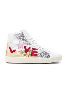 Saint Laurent Leather Love Sneakers