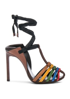 Saint Laurent Leather Majorelle Ankle Tie Sandals