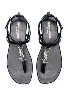 Saint Laurent Leather Nu Pieds Slingback Sandals