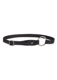 Saint Laurent Leather Ring Belt