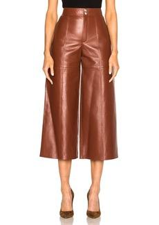 Yves Saint Laurent Saint Laurent Leather Slouch Culottes