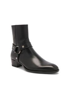 Yves Saint Laurent Saint Laurent Leather Wyatt Harness Boots