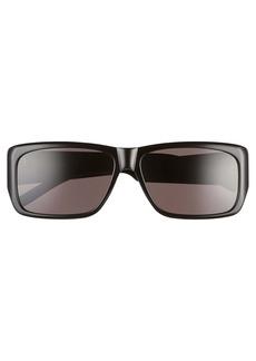 Yves Saint Laurent Saint Laurent Lenny 60mm Rectangle Sunglasses