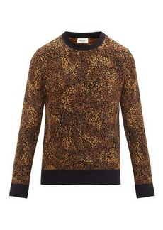 Yves Saint Laurent Saint Laurent Leopard-jacquard sweater