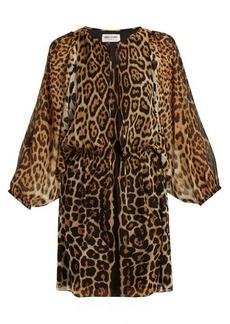 Yves Saint Laurent Saint Laurent Leopard-print georgette dress