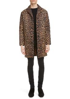 Yves Saint Laurent Saint Laurent Leopard Print Padded Coat