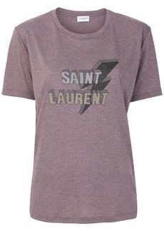 Yves Saint Laurent Saint Laurent lightning bolt T-shirt - Pink & Purple