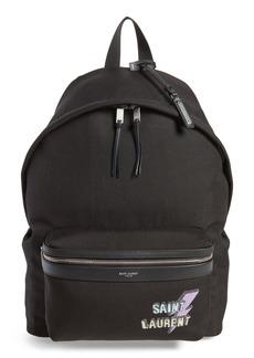 Yves Saint Laurent Saint Laurent Lightning Logo City Backpack