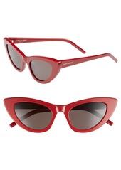 Saint Laurent Lily 52mm Cat Eye Sunglasses