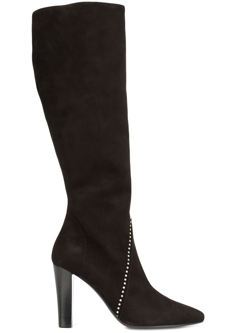 Saint Laurent Saint Laurent  Lily 95  studded boots - Black Now  848.00 51a5f4391ce4