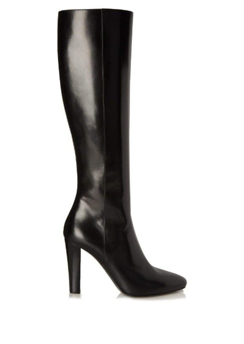Yves Saint Laurent Saint Laurent Lily cone-heeled leather knee-high boots