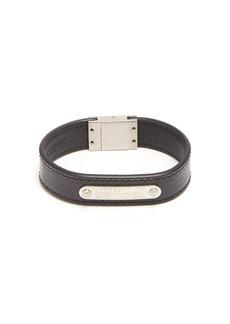 Yves Saint Laurent Saint Laurent Logo leather cuff bracelet
