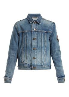Yves Saint Laurent Saint Laurent Logo-patch denim jacket