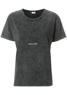 Yves Saint Laurent Saint Laurent logo patch T-shirt - Grey