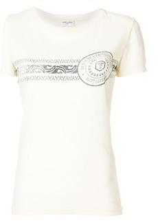 Yves Saint Laurent Saint Laurent logo patch T-shirt - Nude & Neutrals