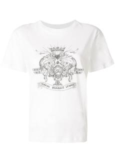 Yves Saint Laurent Saint Laurent logo patch T-shirt - White