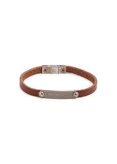 Yves Saint Laurent Saint Laurent Logo-plaque leather bracelet