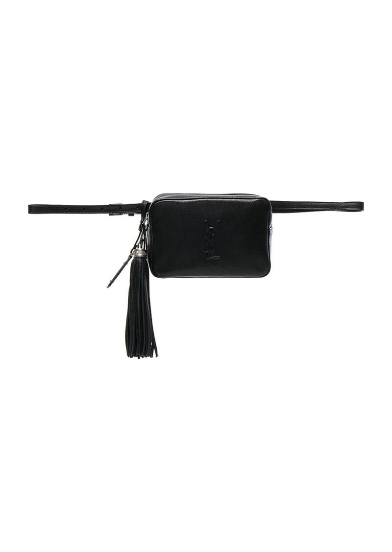 ea68d0b4f Saint Laurent Monogramme Lou Hip Belt with Pouch | Handbags