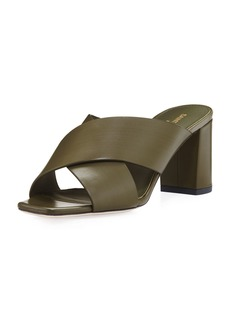 Yves Saint Laurent Saint Laurent Lou Lou Brushed Slide Sandal