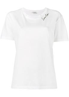 Yves Saint Laurent Saint Laurent Lou Lou print t shirt - White