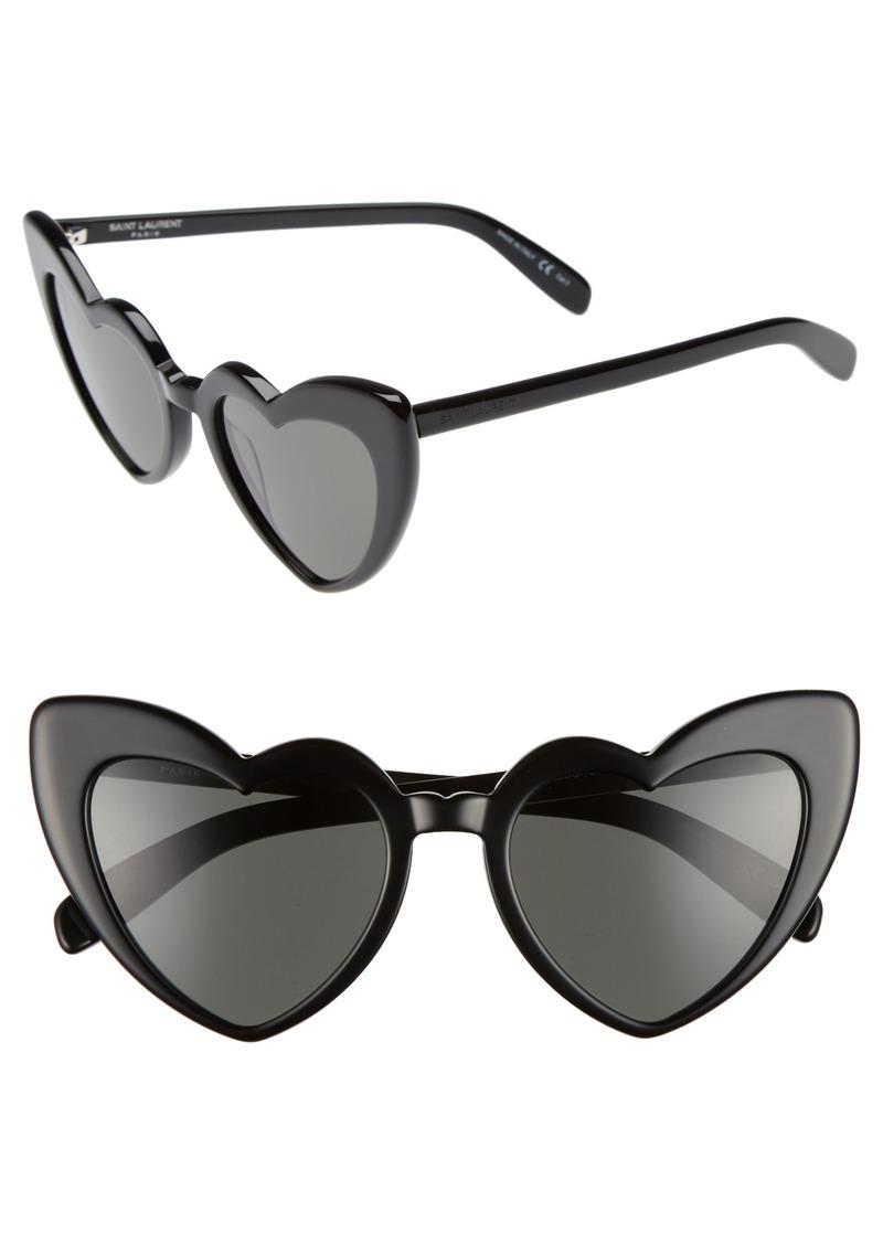 f41dba4ad9 Saint Laurent Saint Laurent Loulou 54mm Heart Sunglasses