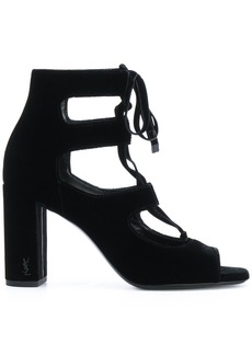 Yves Saint Laurent Saint Laurent Loulou 95 lace-up sandals - Black