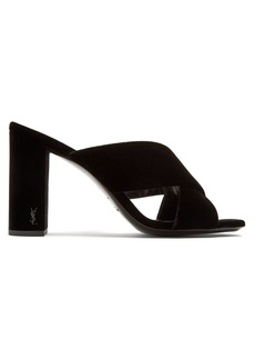 Yves Saint Laurent Saint Laurent Loulou 95 velvet mules
