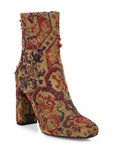 Yves Saint Laurent Saint Laurent Loulou Embroidered Block-Heel Booties